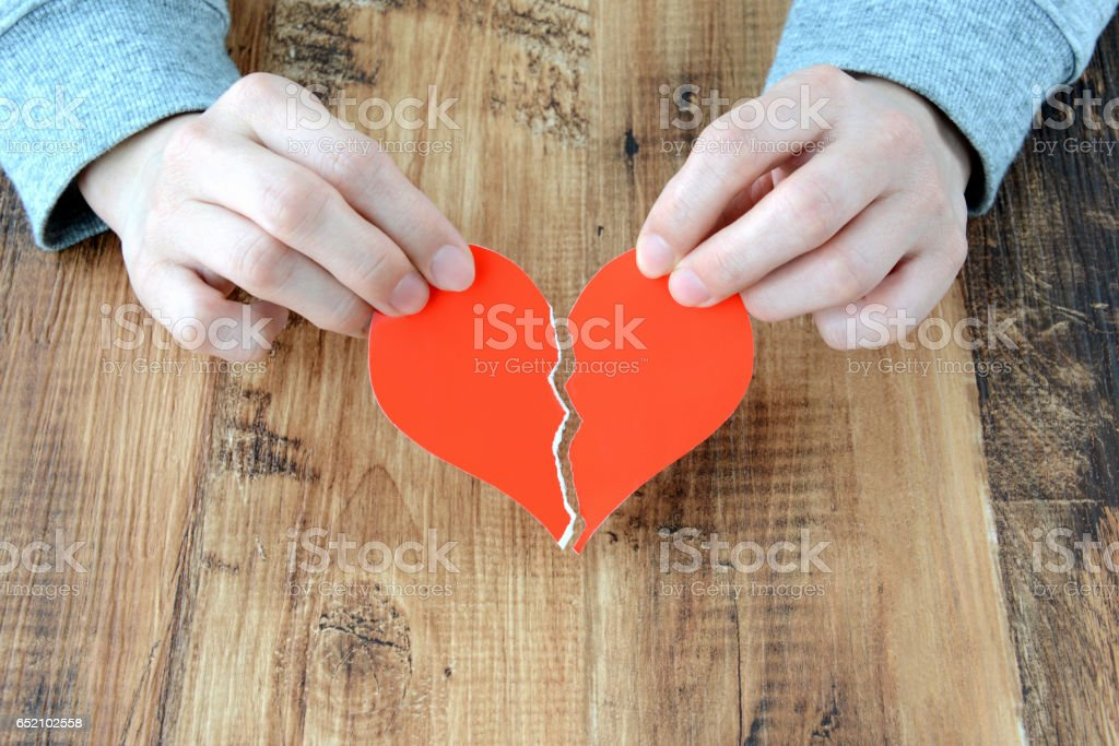 Lost love concepts stock photo