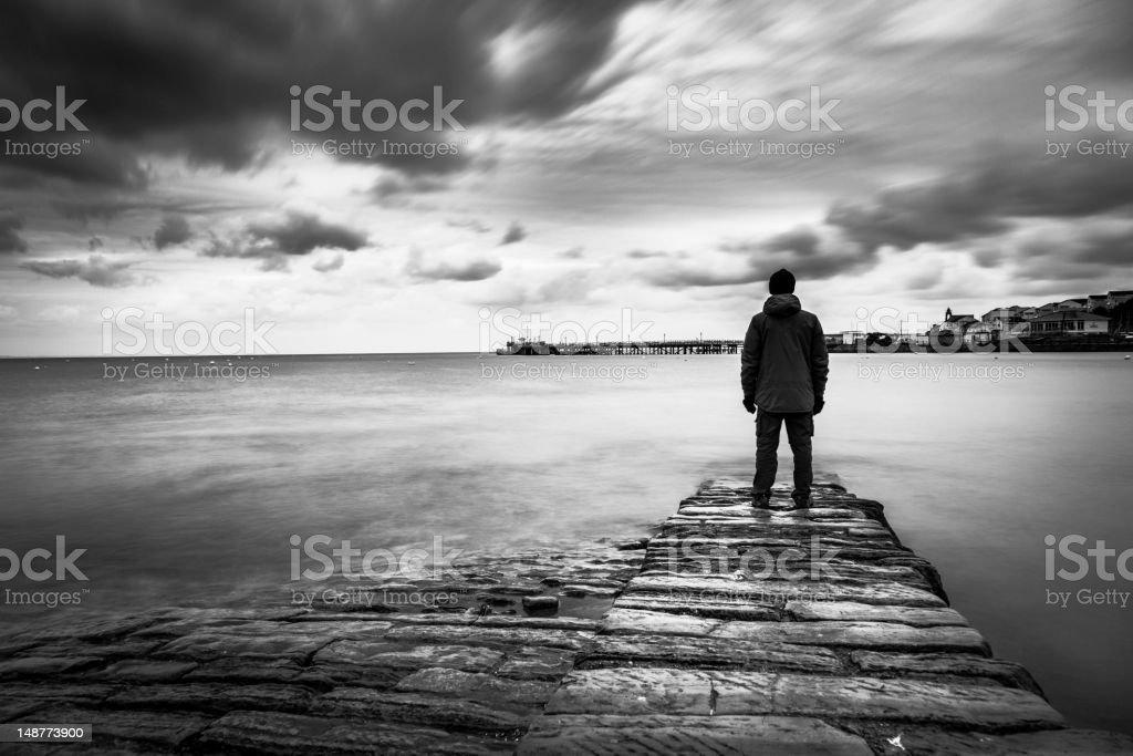 Lost man stock photo