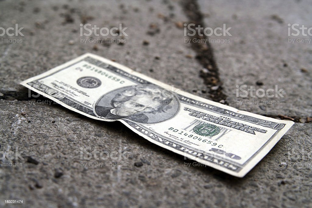 Lost money royalty-free stock photo
