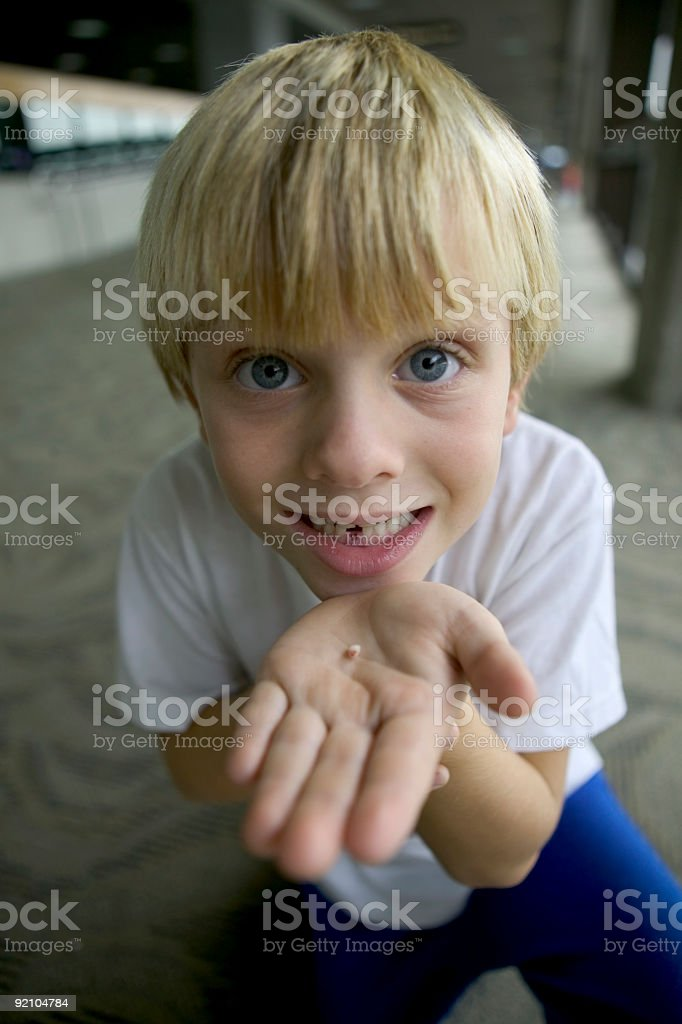 I lost my first tooth royalty-free stock photo