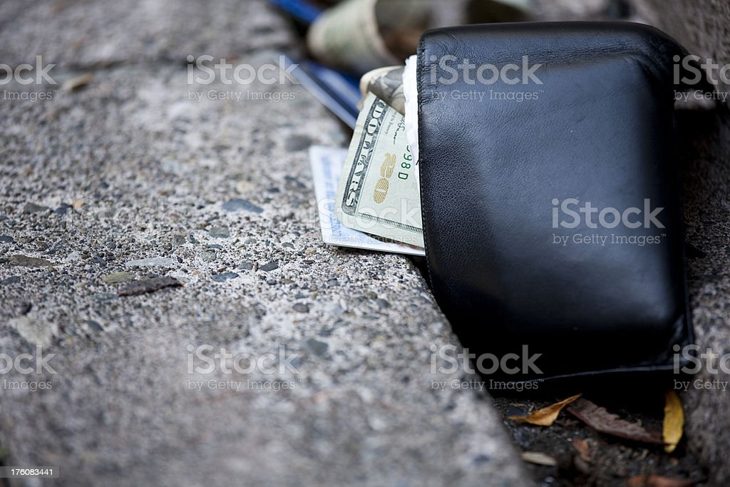 I lost my wallet; misplaced, dropped or stolen billfold royalty-free stock photo