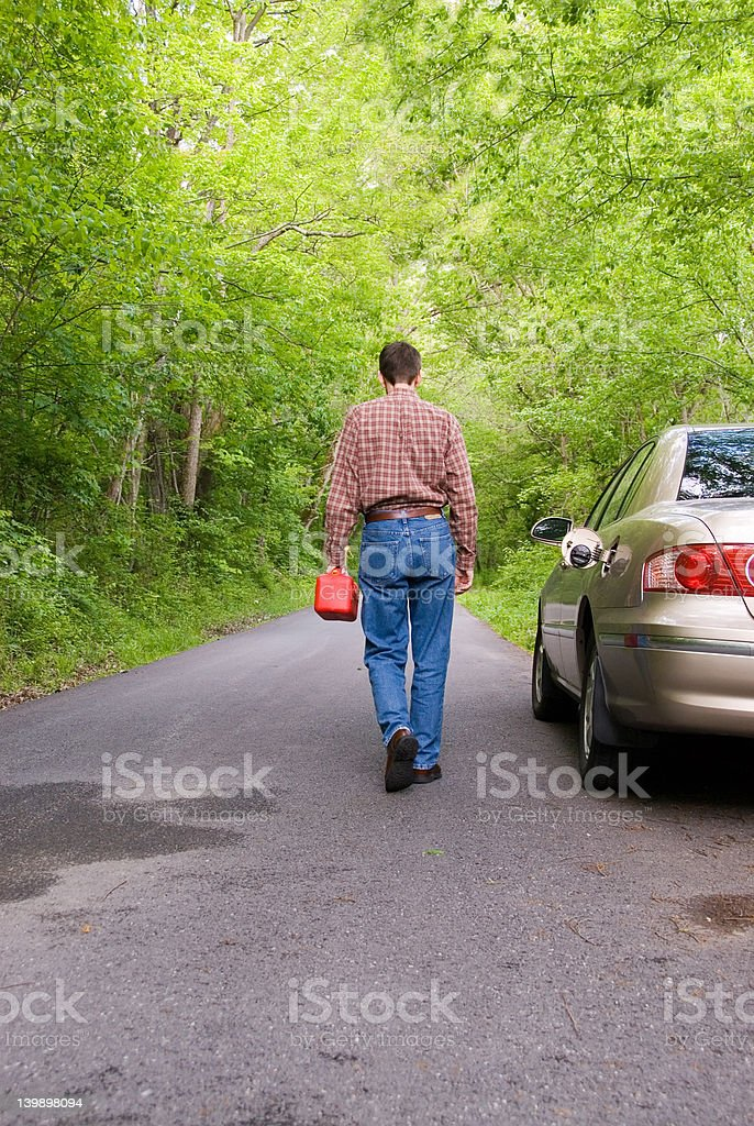 Lost No Gas royalty-free stock photo
