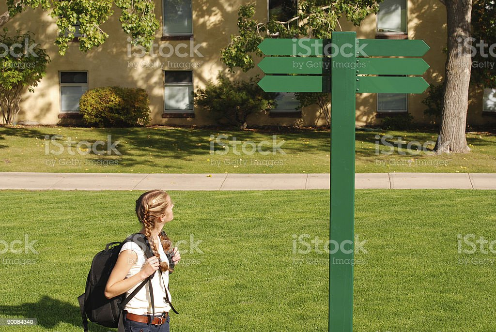 Lost on Campus royalty-free stock photo