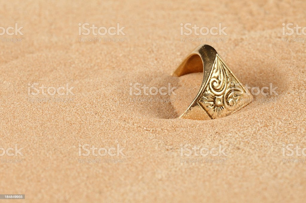 Lost ring stock photo