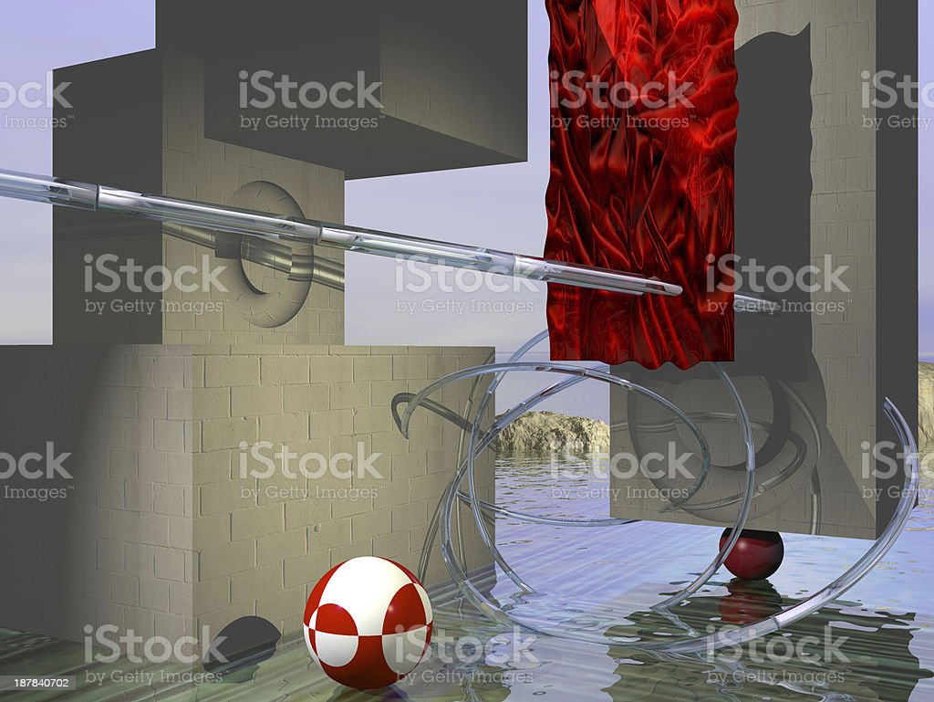 Lost sity royalty-free stock photo