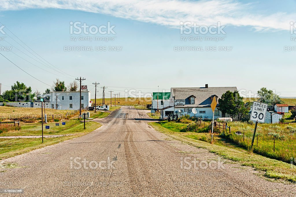 Lost Springs Wyoming Population Four stock photo