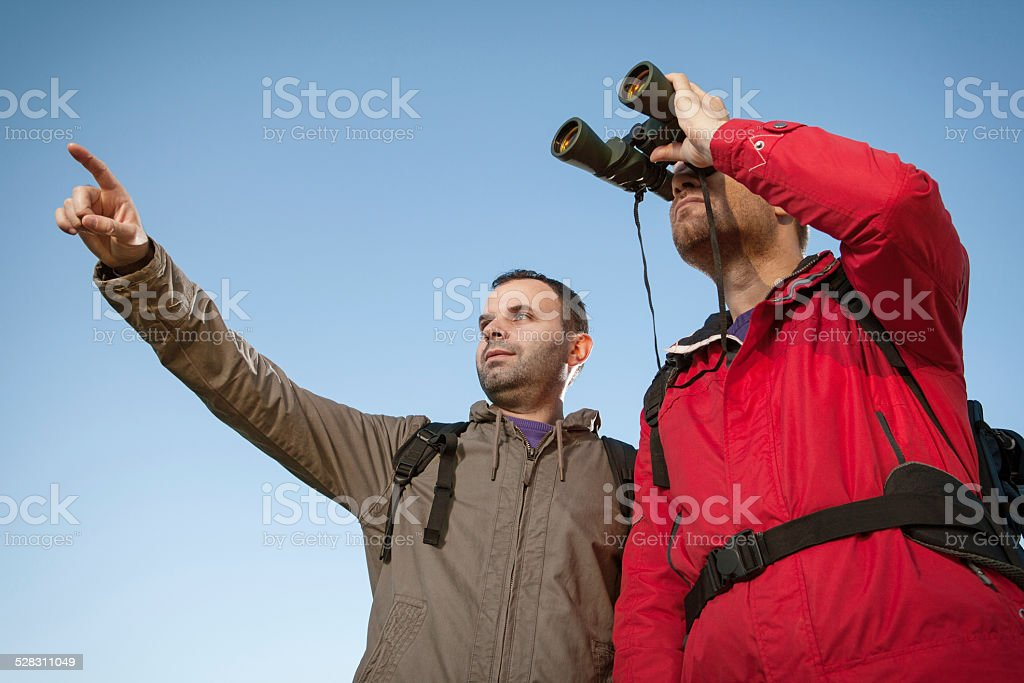 Lost tourists stock photo