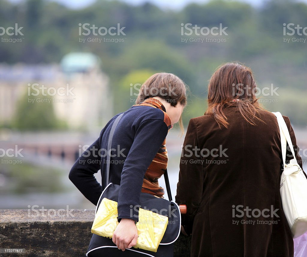 Lost Tourists, Reading Map, Prague, Czech Republic royalty-free stock photo