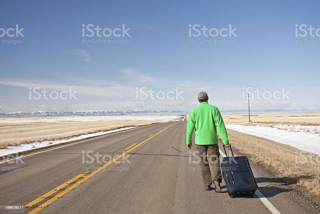 Lost Traveler royalty-free stock photo