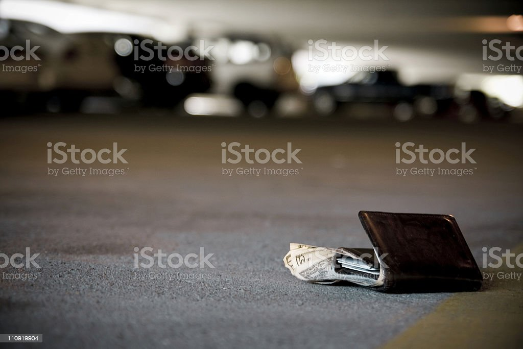 Lost Wallet stock photo
