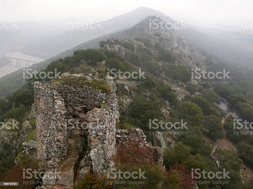 Losted castle stock photo