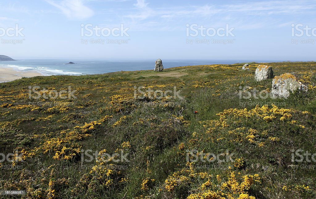 Lostmarc'h in Brittany, France stock photo