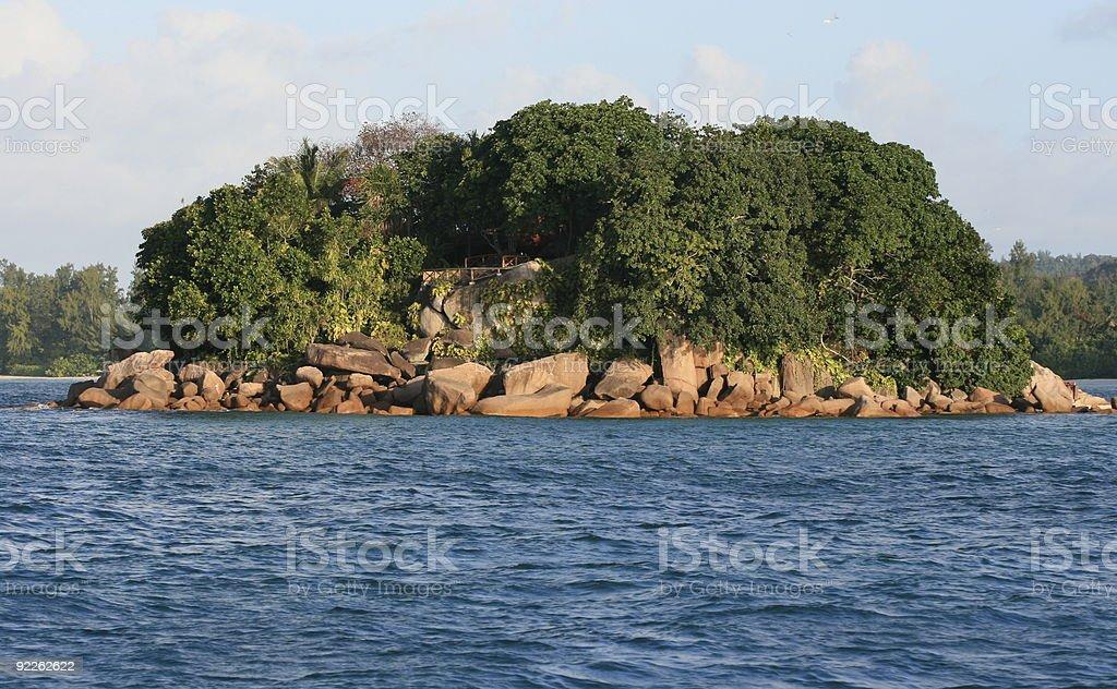 îlot chauve-souris aux Seychelles stock photo