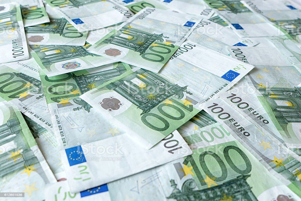 Lot money - banknotes stock photo