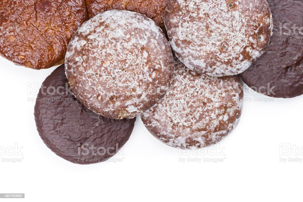 lot of Christmas gingerbreads stock photo