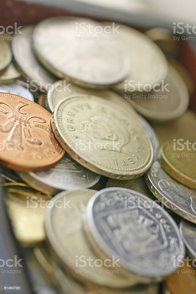 lot of coins royalty-free stock photo