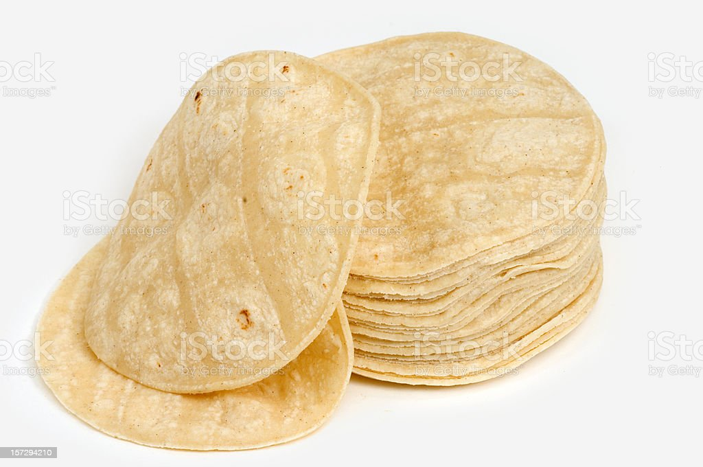 Lot of corn mexican tortillas stock photo