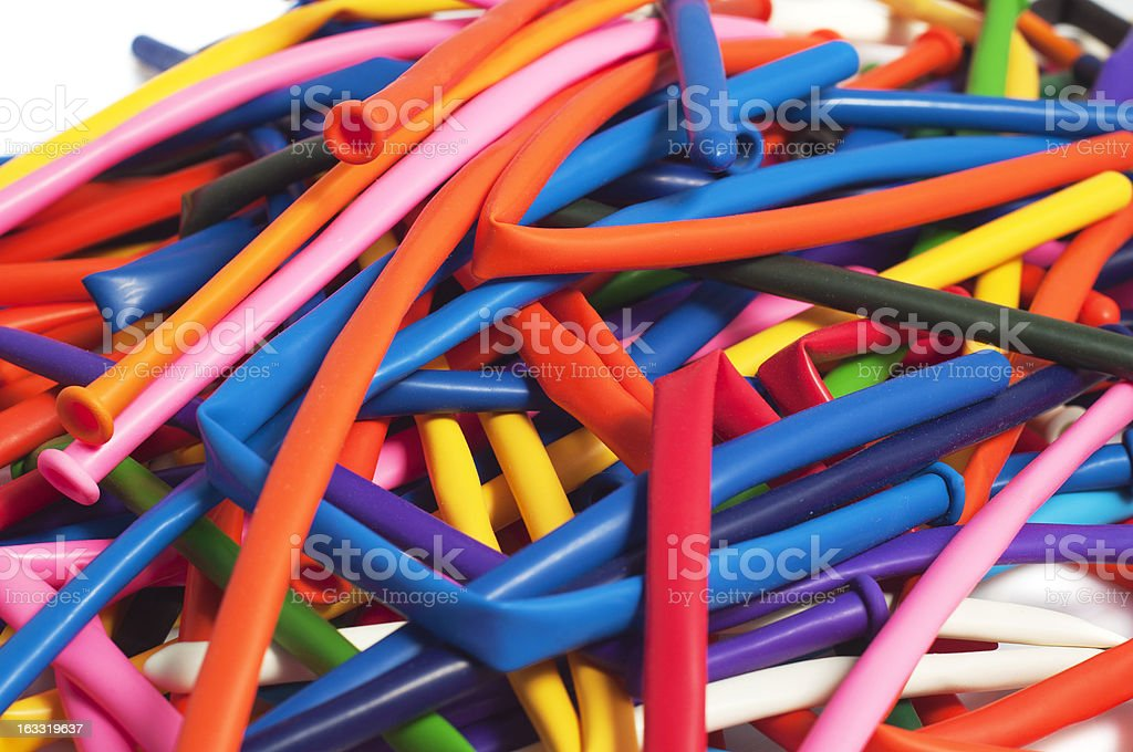 lot of deflated balloons in many colors royalty-free stock photo