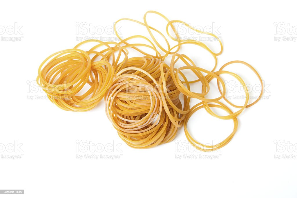 lot of elastics stock photo