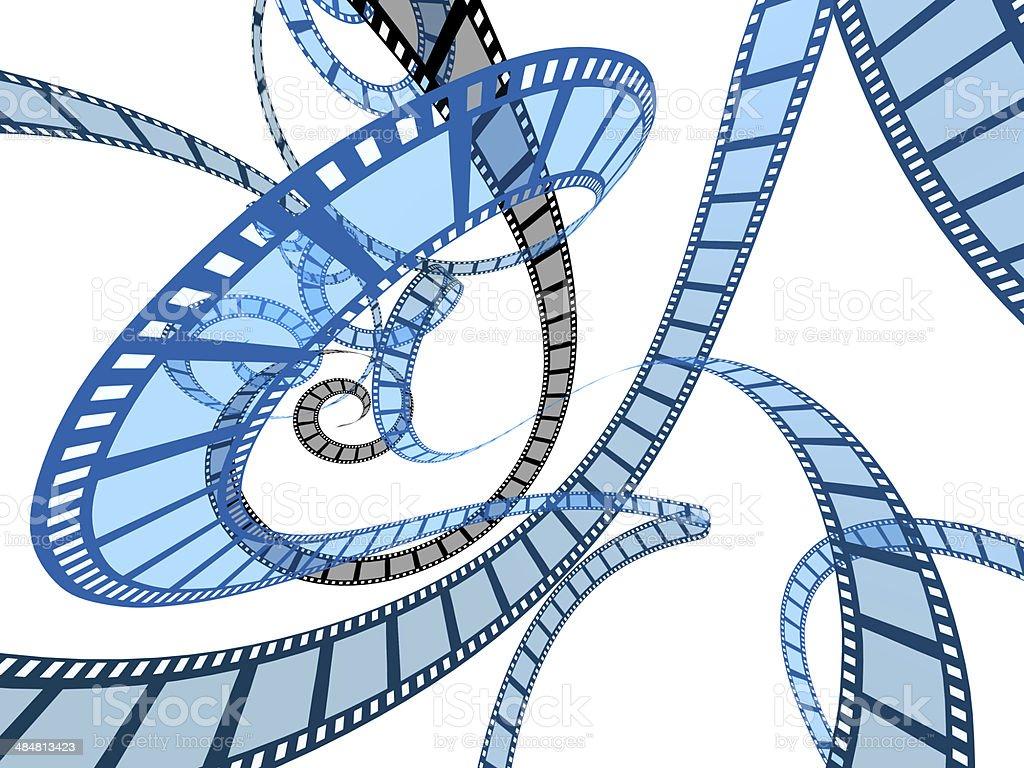 Lot of films stock photo