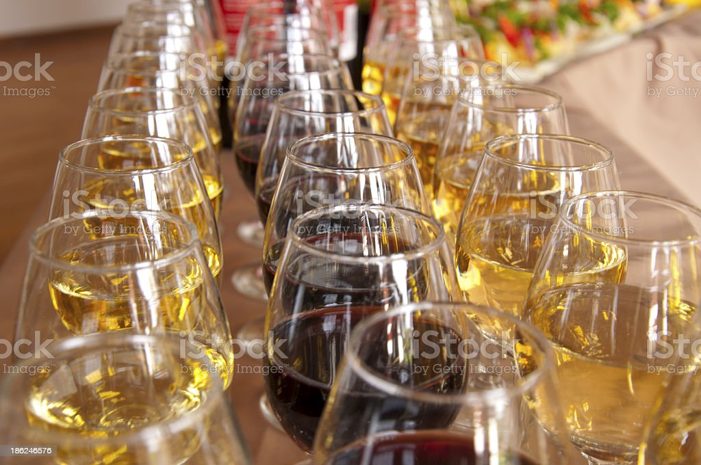 lot of glasses royalty-free stock photo