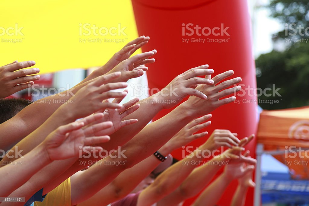 lot of hand competition royalty-free stock photo