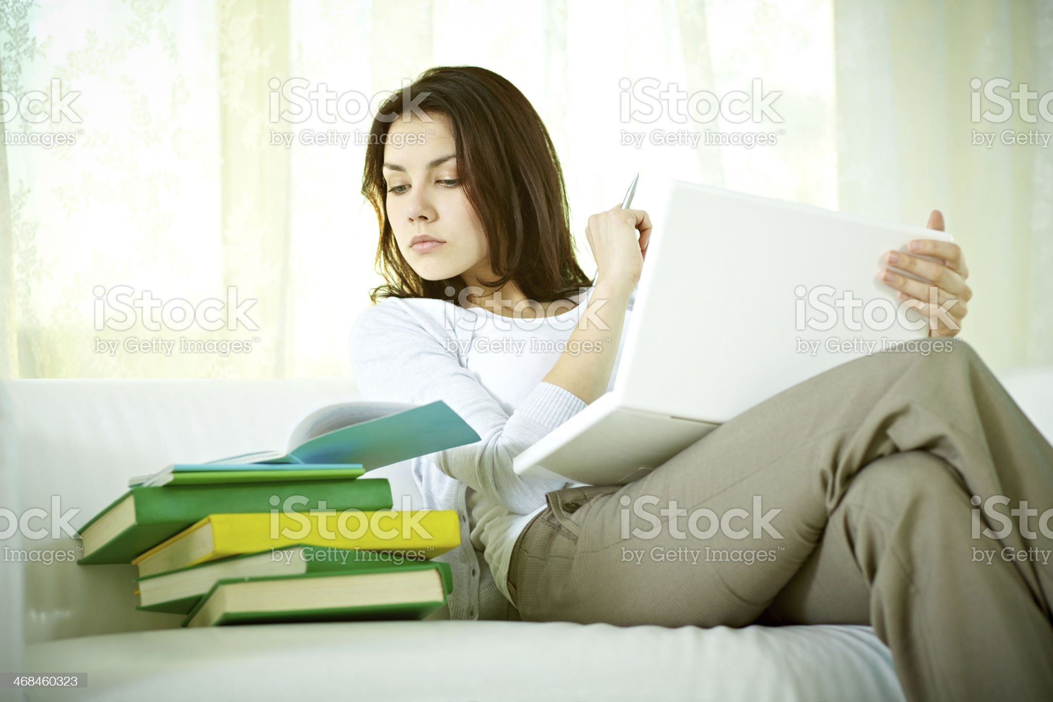 Lot of homework royalty-free stock photo