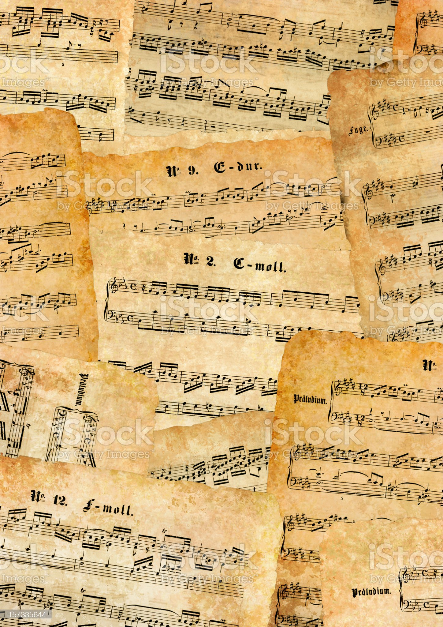lot of old sheet music royalty-free stock photo