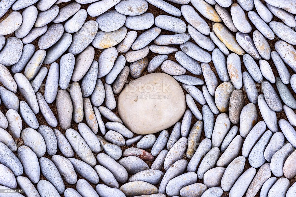 Lot of pebbles stock photo