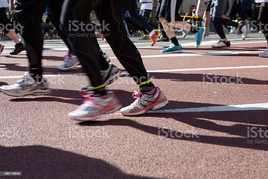 Lot of runners stock photo