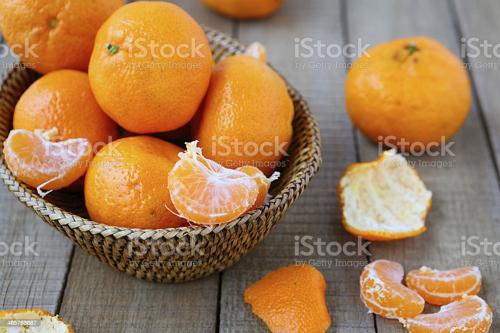 lot of tangerines on the table royalty-free stock photo