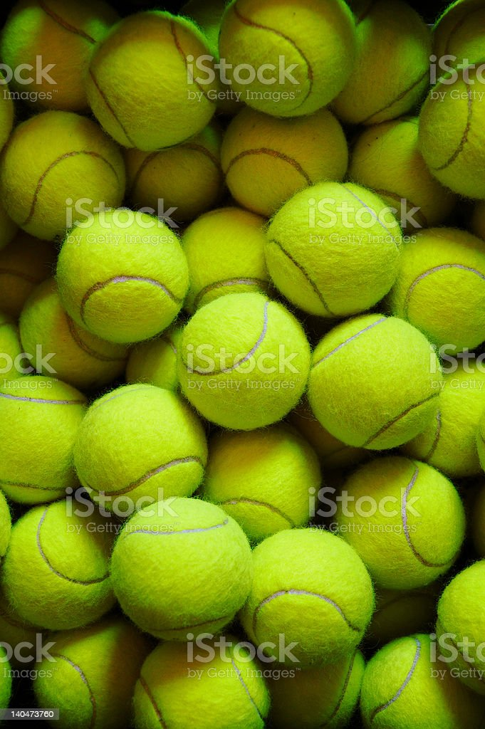 lot of tennis balls royalty-free stock photo