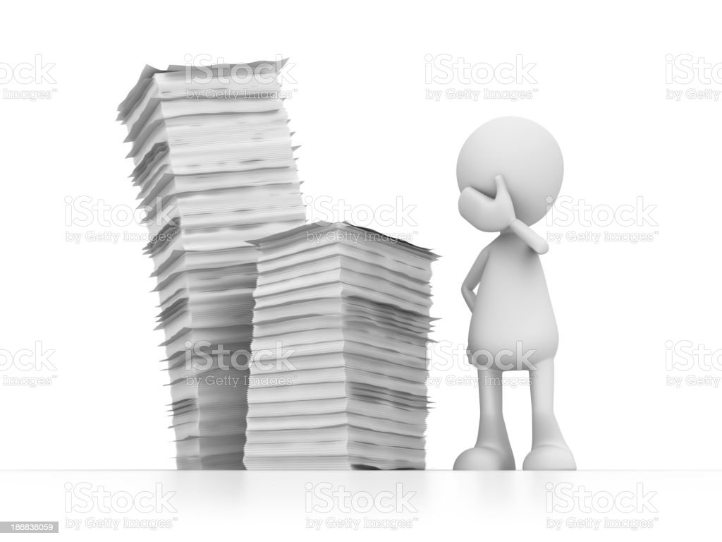 lot of work royalty-free stock photo