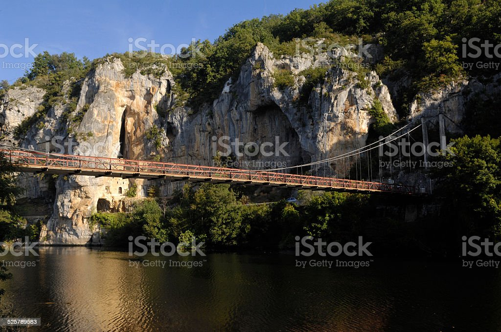 Lot River, Midi Pyrenees, France stock photo