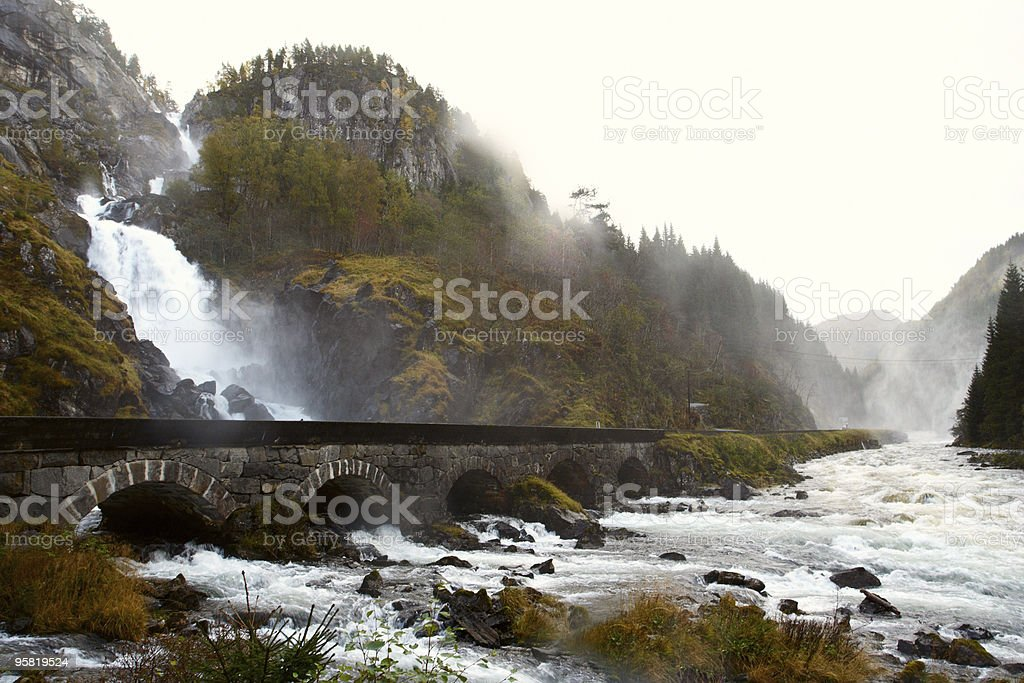 Lotefossen waterfall, Norway stock photo