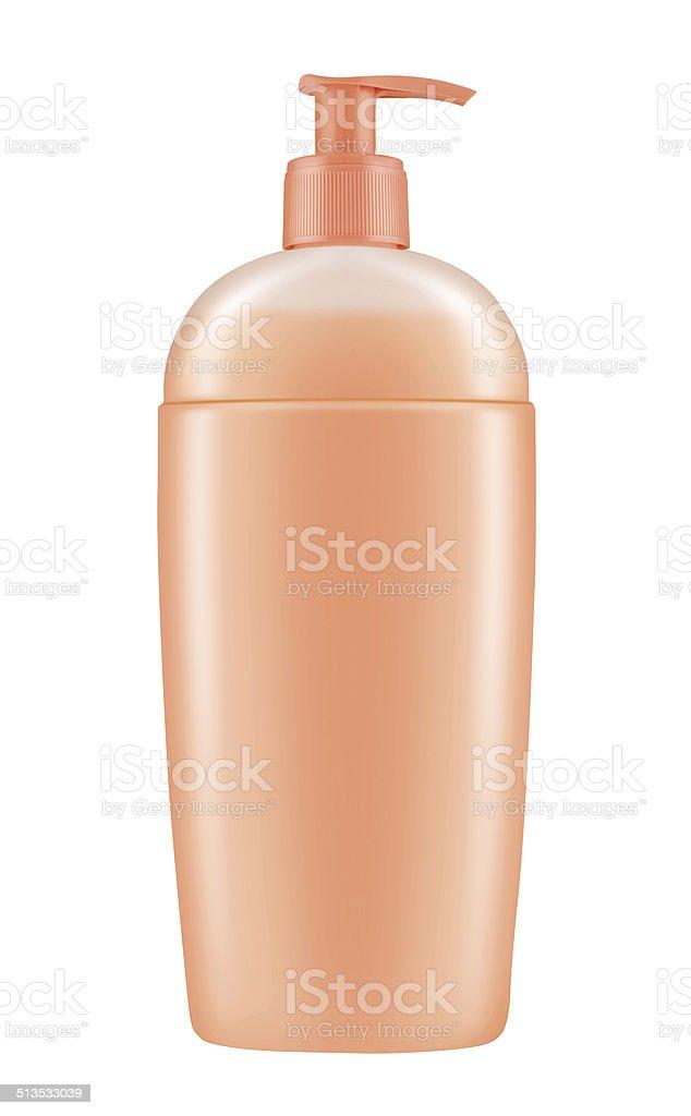 Lotion bottle stock photo