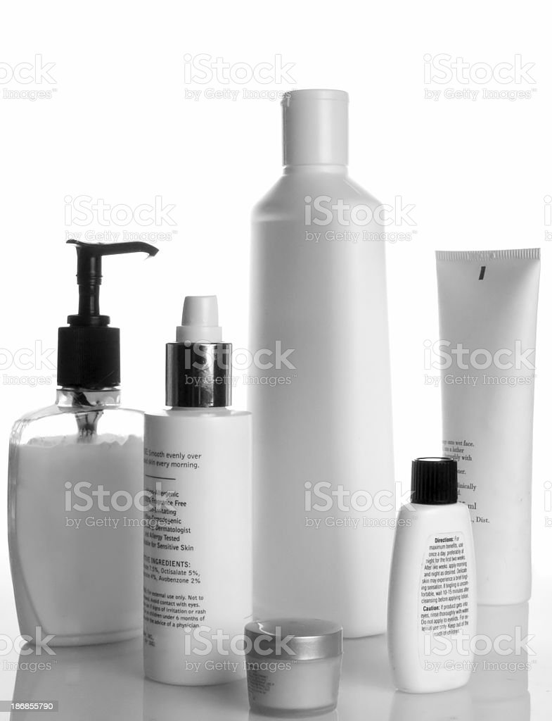 lotion bottles royalty-free stock photo