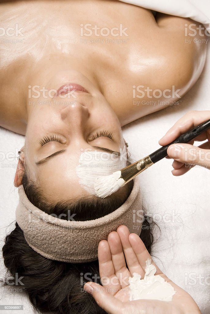 Lotion painting royalty-free stock photo