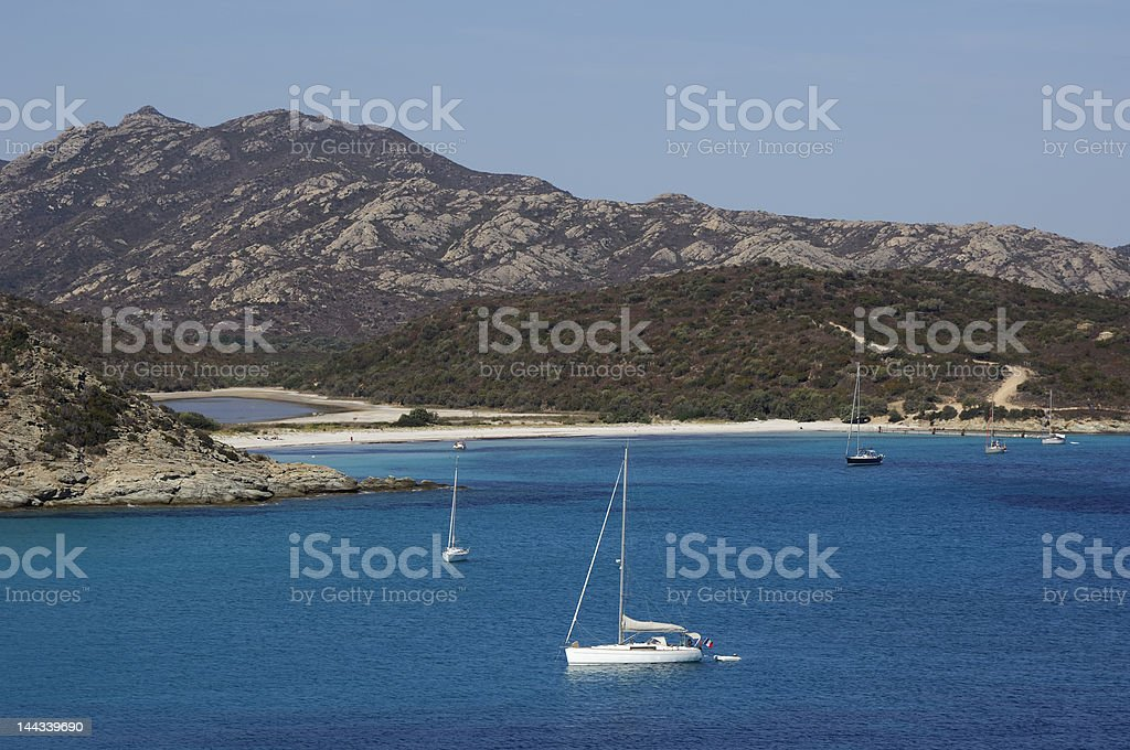 Loto Beach in Corse Island royalty-free stock photo