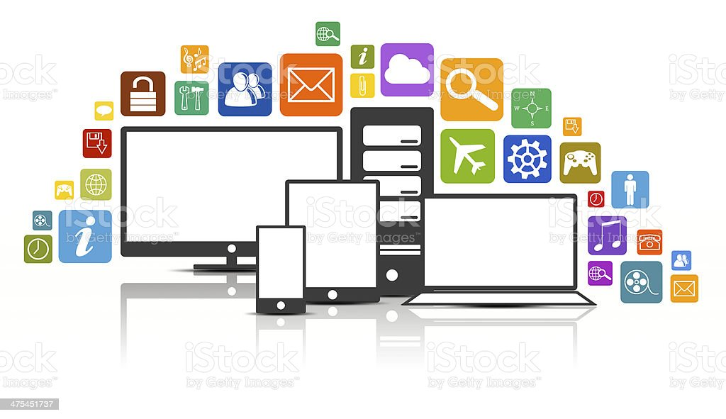 Lots of Apps stock photo