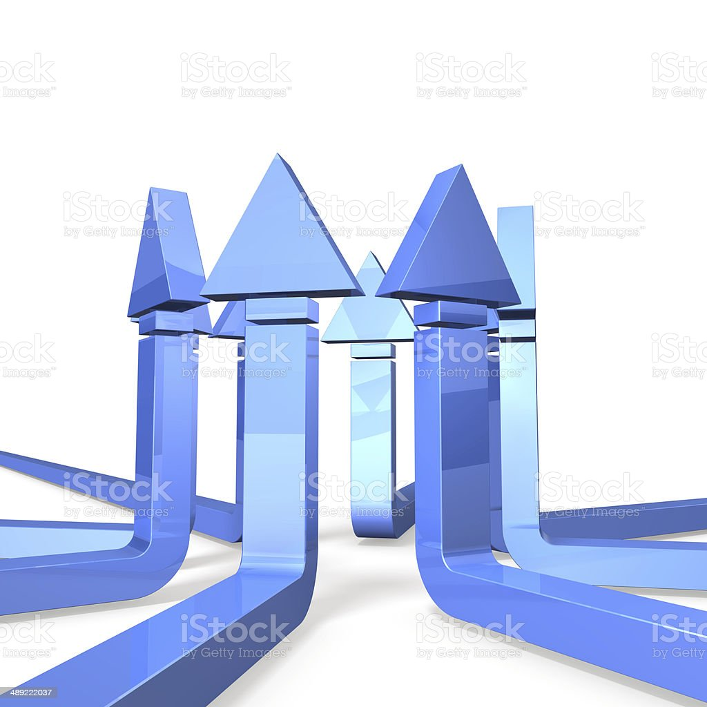 Lots of arrows that represent the unity royalty-free stock photo