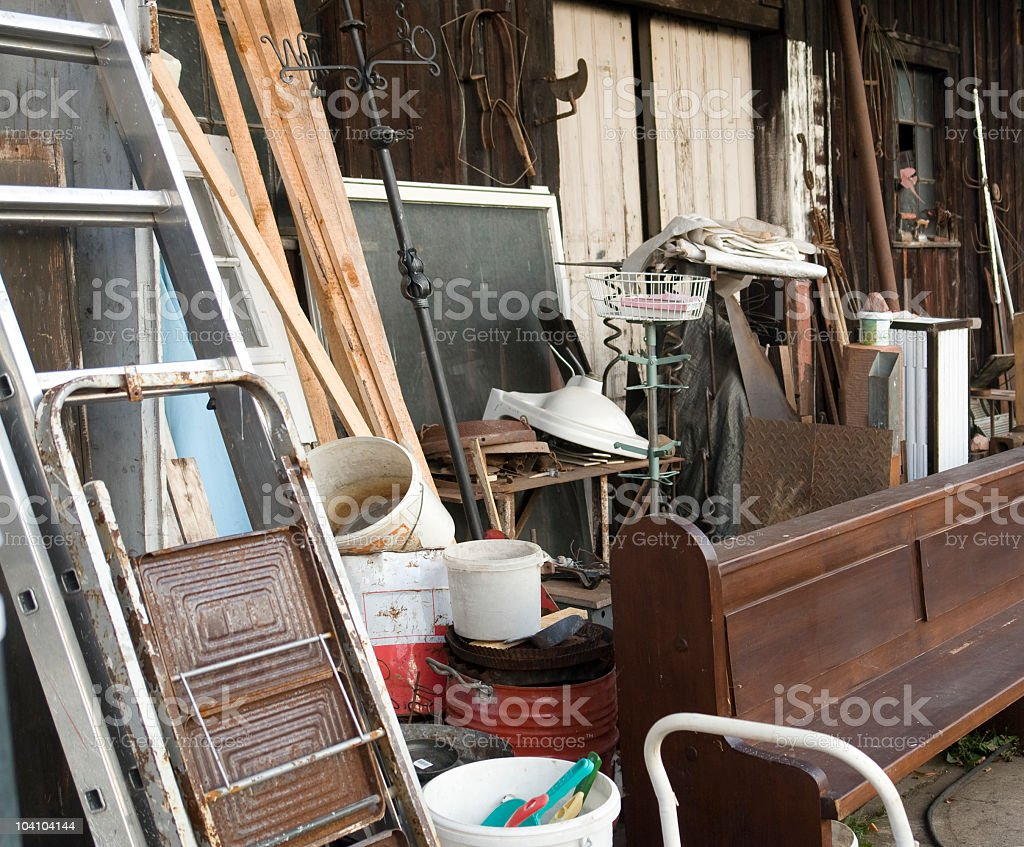 lots of bulky waste stock photo