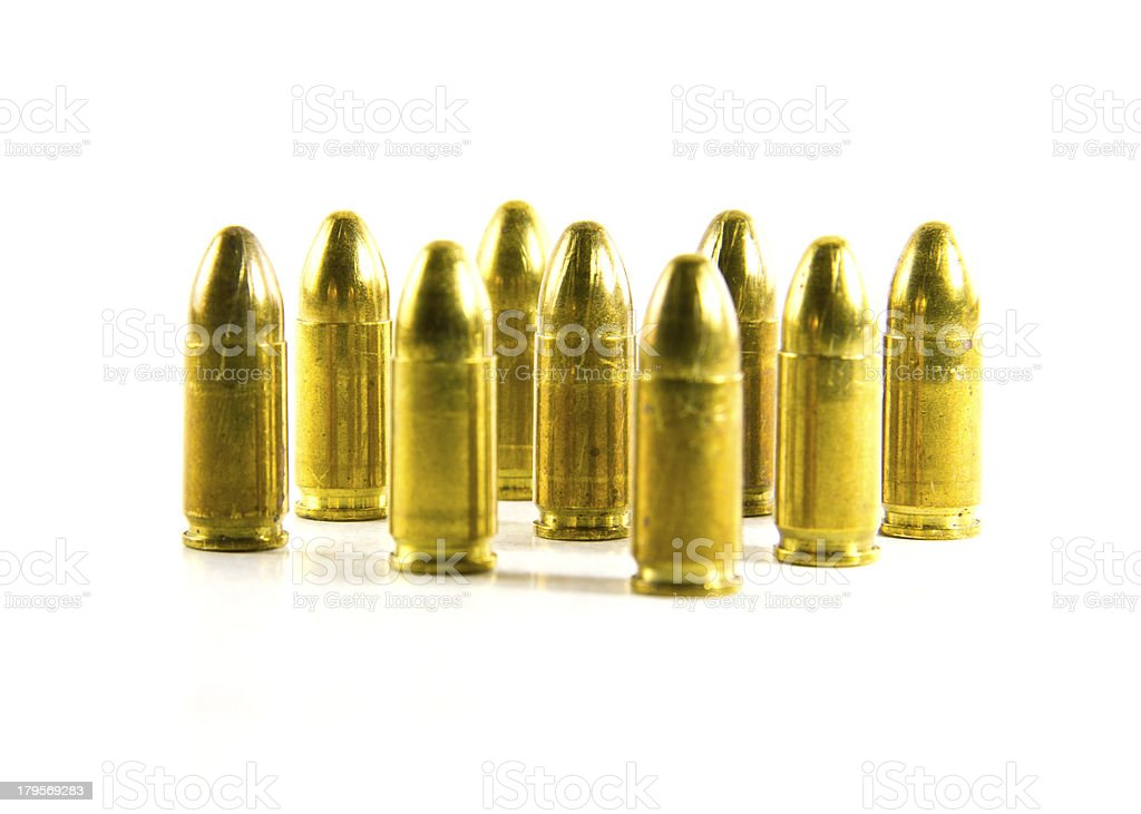 lots of bullets on white background royalty-free stock photo