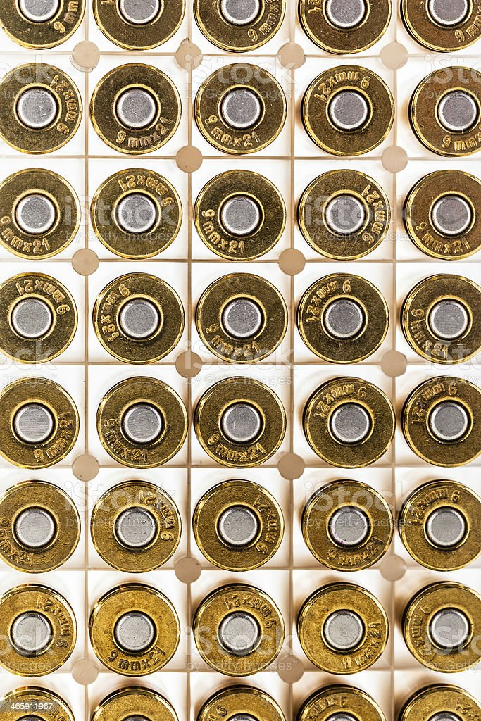 Lots of bullets stock photo