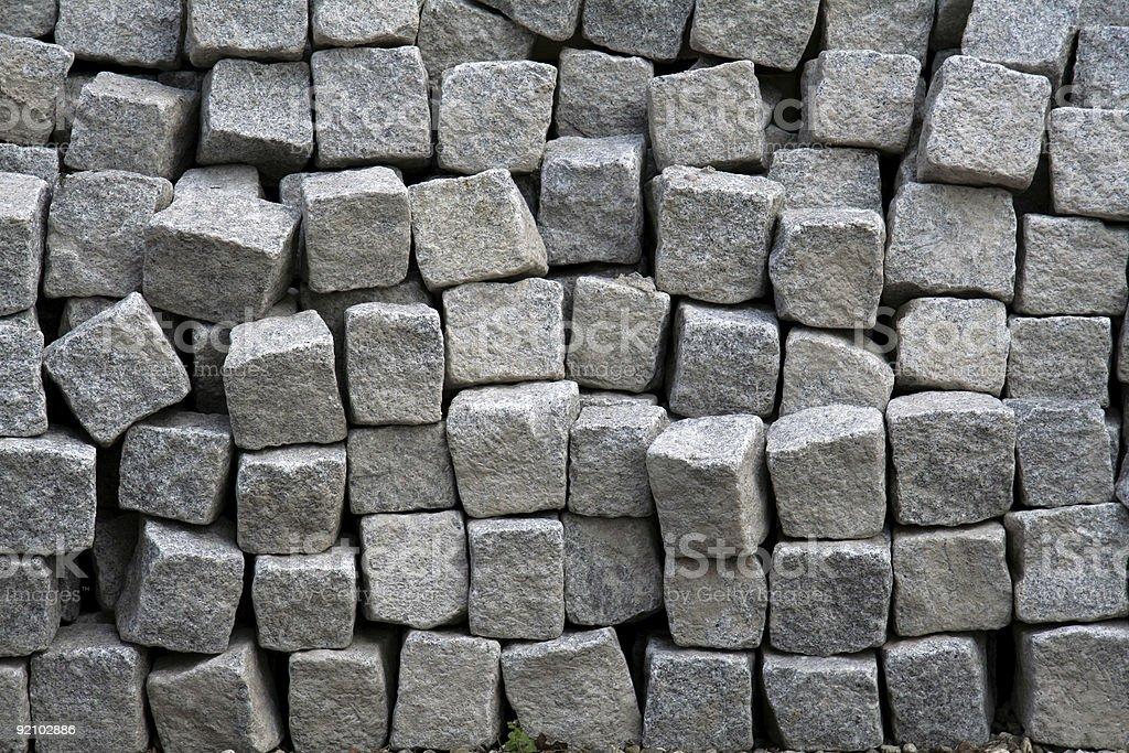 Lots of cobblestones close-up royalty-free stock photo