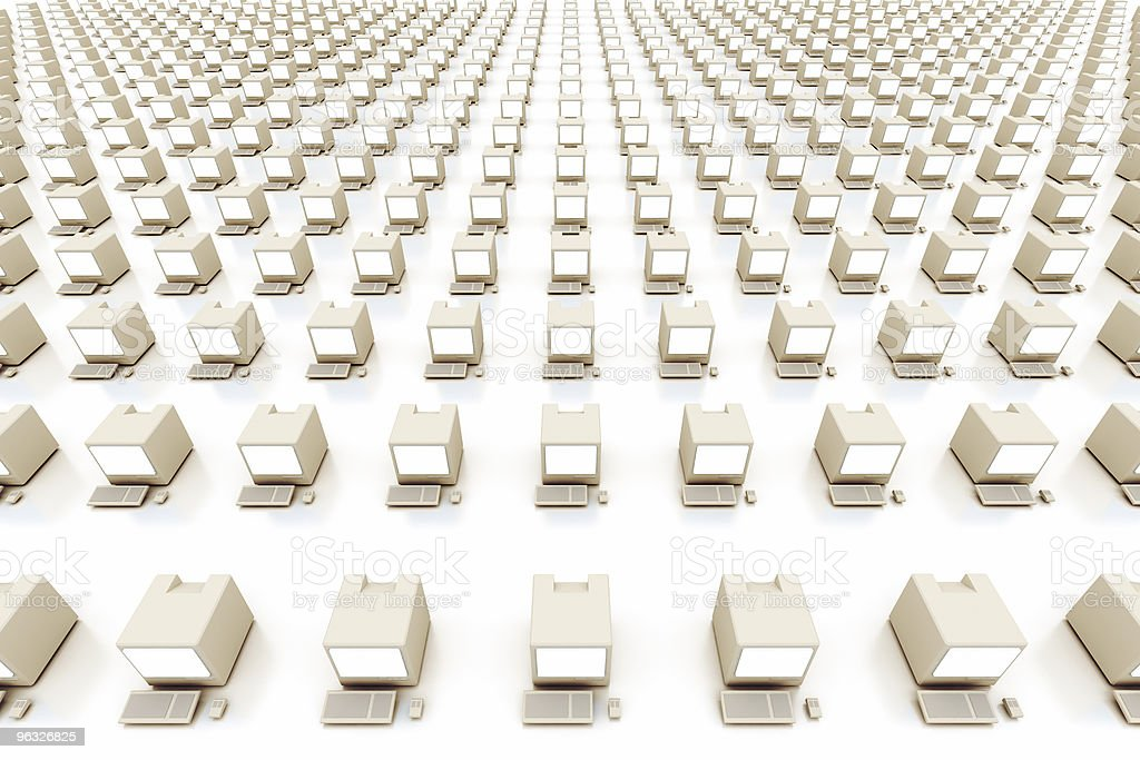 Lots of Computers royalty-free stock photo