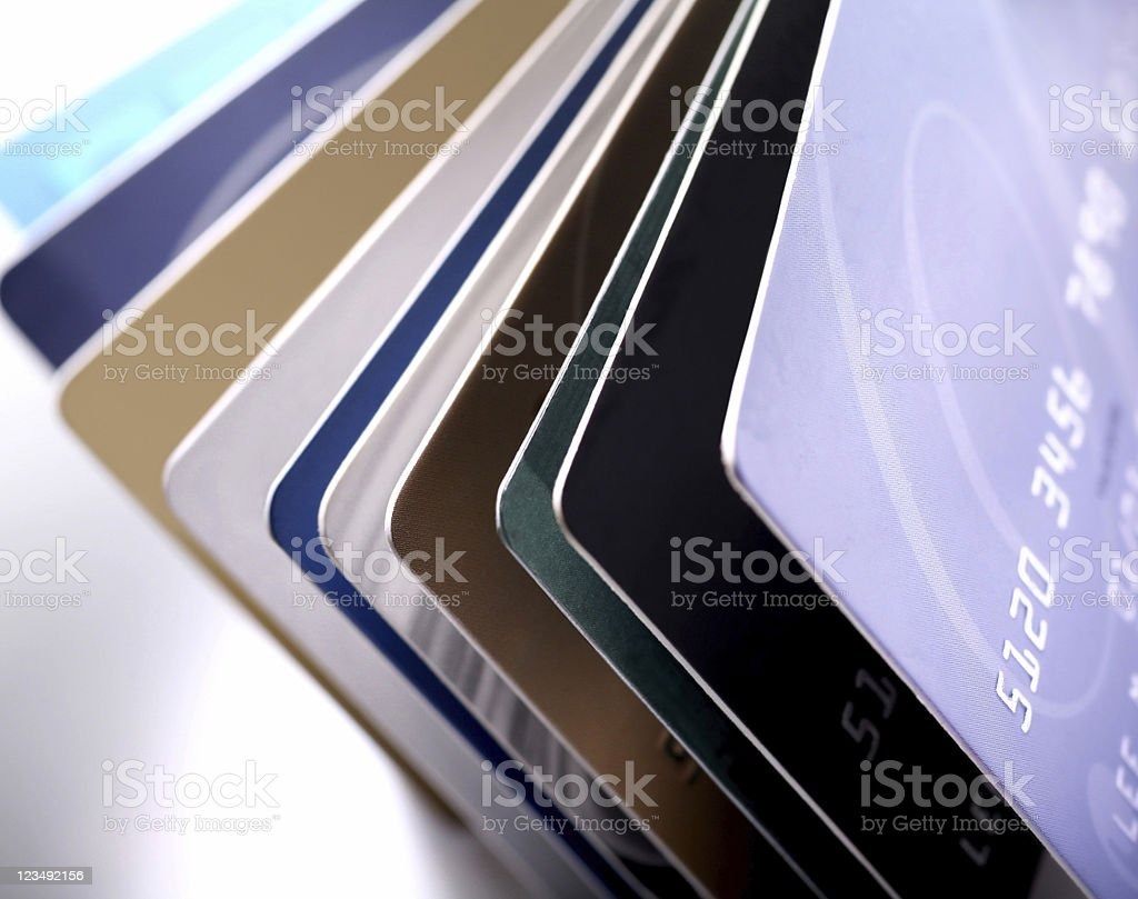 Lots of Credit Cards royalty-free stock photo