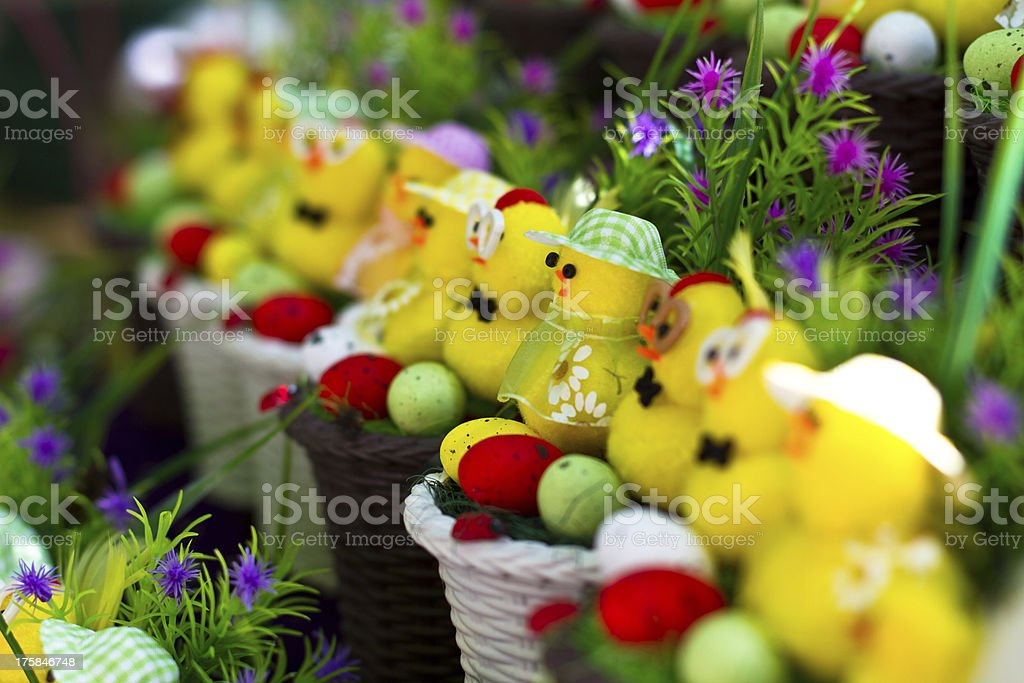 Lots of easter baskets royalty-free stock photo
