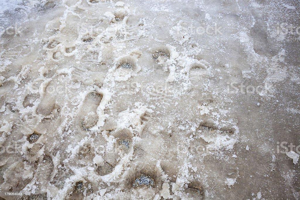 lots of footprint royalty-free stock photo