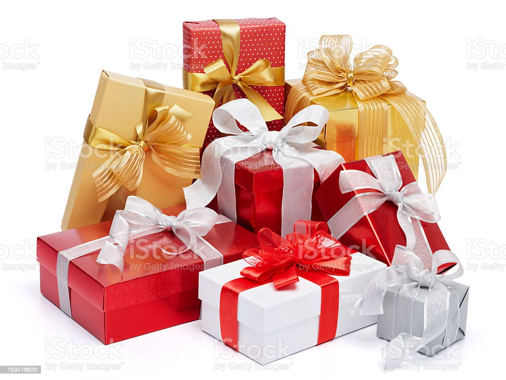 lots of gifts stock photo